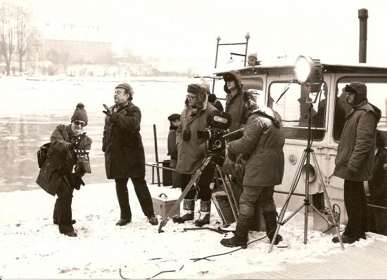 dnes už režisér Martin Faltýn tenkrát klapka a u kamery Jan Novák (1)