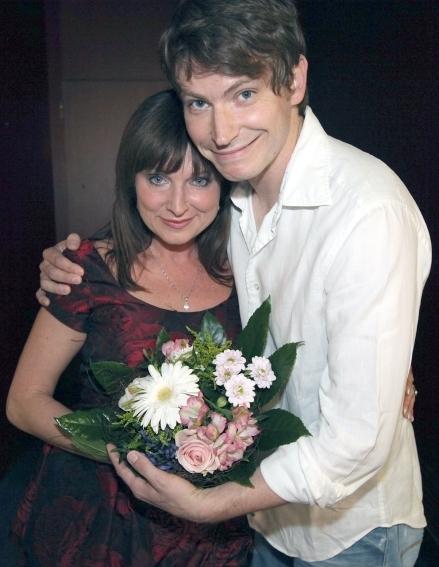Simona Prasková a David Švehlík při uvádění filmu na 44. MFF Karlovy Vary 2009