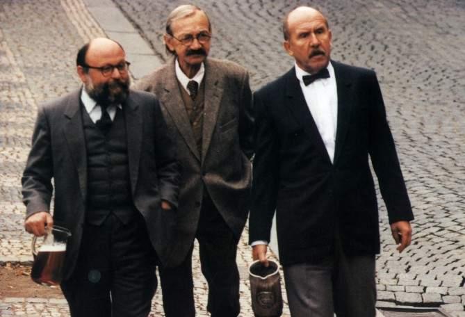 Arnošt Goldflam, Josef Kemr a Petr Nárožný