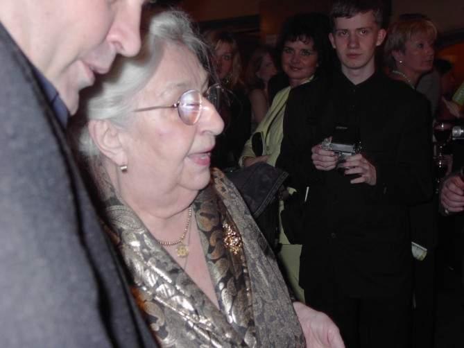 Stella Zázvorková - na Českém lvu 2002