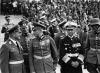Maršal Erhardt Milch, maršal Wilhelm Keitel, maršal Walther von Brauchitsch, admiral Erich Raeder.Norimberg 1938