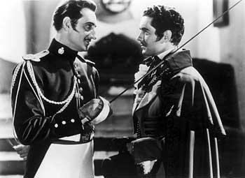 Basil Rathbone jako Estéban v Zorro