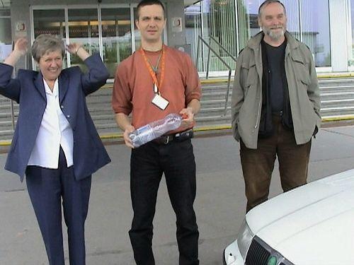 Produkční Ivanka Průšová a její pravá ruka Bob Riedl - neviditelná, ale nepostradatelná dvojice v pozadí seriálu.