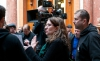 z natáčení vernisáže, které proběhlo v bývalé Živnobance v Praze