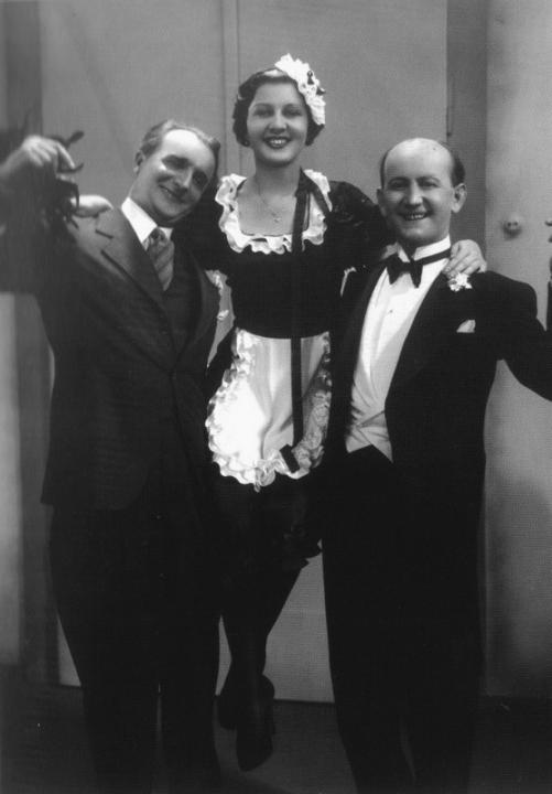 František Smolík,  Ljuba Hermanová a  Ludvík Veverka
