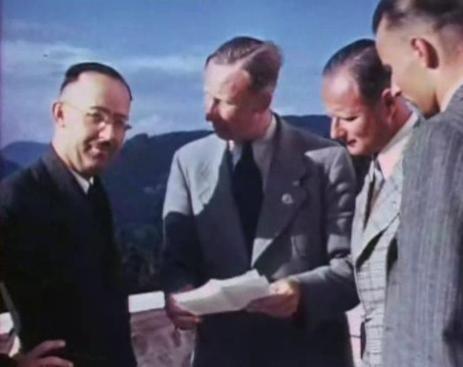 Heinrich Himmler,  Reinhard Heydrich, Karl Wolff na Obersalzbergu