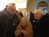 """Zleva: Gene Deitch, Zdeňka Deitchová a Zdenka Navrátilová, výstava """"Sedmdesát let studia Bratři v triku"""" v klášteře na Strahově, listopad 2015; foto: Milena Beneš"""