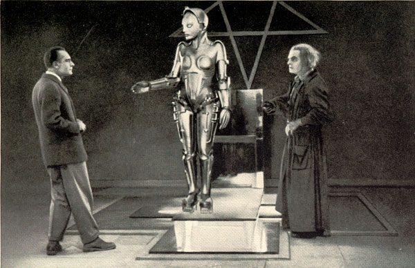 Alfred Abel a Rudolf Klein-Rogge; foto z filmu Metropolis (1927)