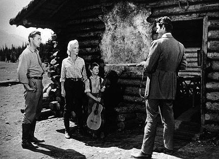 Marilyn Monroe Rory Calhoun Robert Mitchum Tommy Rettig