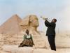 Louis Armstrong hraje pro svou ženu, Lucille, Káhira, Egypt roku 1961