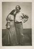 """Fotografie z div. představení """"Princezna Pampeliška"""" - 29.06.1910, Eva Vrchlická (Princezna Pampeliška), Rudolf Deyl st. (Honza)"""