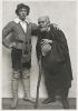 """Fotografie z div. představení """"Jak se vám líbí"""" - 29.01.1915, Rudolf Deyl (Orlando), Karel Kolár (Adam)"""