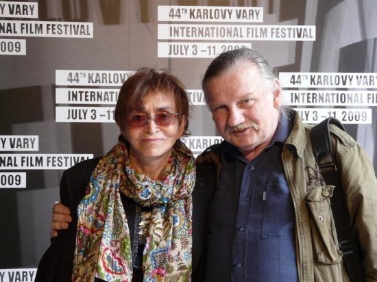 Věra Chytilová s autorem databáze na 44. MFF Karlovy Vary
