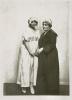 """Fotografie z div. představení """"Loupežník"""" - 02.03.1920, Eva Vrchlická (Mimi), Marie Pštrossová (Profesorova žena)"""