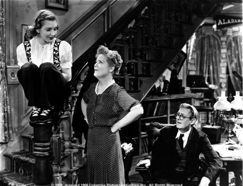 Jean Arthur,  Spring Byington,  Lionel Barrymore