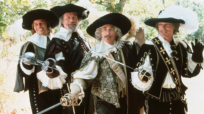 Michael York, Oliver Reed, C. Thomas Howell, Richard Chamberlain Frank Finlay