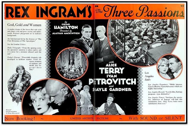 Tři vášně (1929)