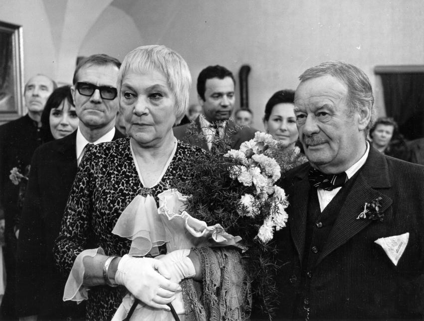 Miriam Kantorková, Radovan Lukavský, Jiřina Šejbalová, Vladimír Menšík, Marcela Martínková a Bohuš Záhorský