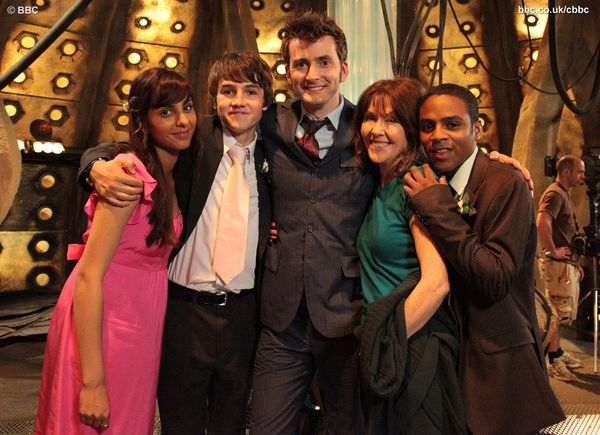 Tommy Knight And David Tennant