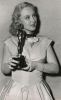 Celeste při přebírání Oscara