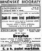"""Zdroj: Projekt """"Filmové Brno"""", Ústav filmu a audiovizuální kultury, Filozofická fakulta, Masarykova univerzita, Brno. Denní tisk z 29.05.1931. - http://www.phil.muni.cz/filmovebrno"""