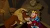 Král Rudolf a lev Aurix v kryptě
