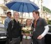 Režisér Alan Rudolph s manželkou Joyce a výkonný ředitel festivalu Kryštof Mucha