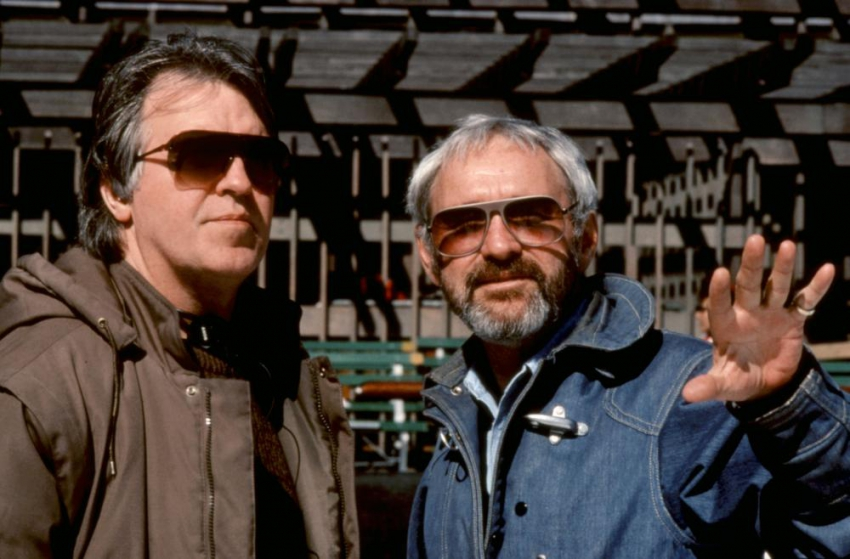 Režisér Pat O'Connor a producent  Norman Jewison na place