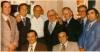 Paul Castellano, Gregory DePalma, Frank Sinatra, Tommy Marson, Don Carlo Gambino, Aladena Jimmy Frantiano, Salvatore Spatola, vpredu sedia :Joseph Gambino a Richard Fusco