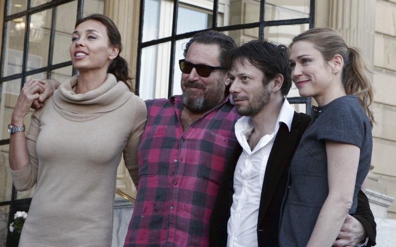 Olatz López Garmendia,  Julian Schnabel,  Mathieu Amalric a Marie-Josée Croze