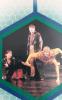 Foto z divadelní hry Bastard na fotce zprava - Zora Jandová, Jan Apolenař a Ladislav Cigánek.