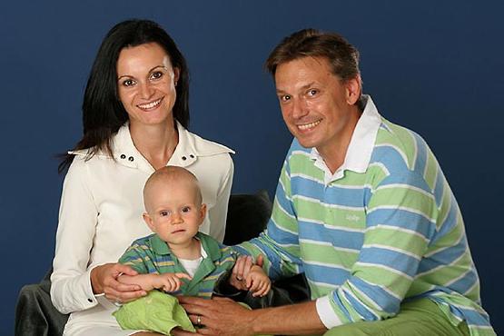 Igor Keblušek se svou ženou Renátou a mladším synem Kristiánem
