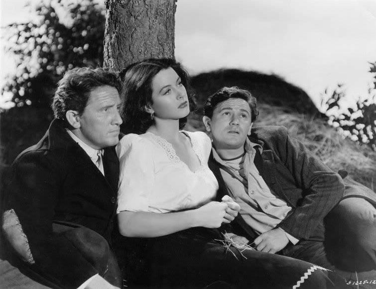 Spencer Tracy, Hedy Lamarr a John Garfield