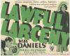Lawful Larceny (1930)