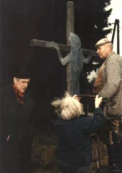 Evald Schorm při natáčení