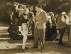 režisér filmu Walter Lang diskutuje s herečkou Carole Lombard při natáčení filmu Rozmarná žena (1936)