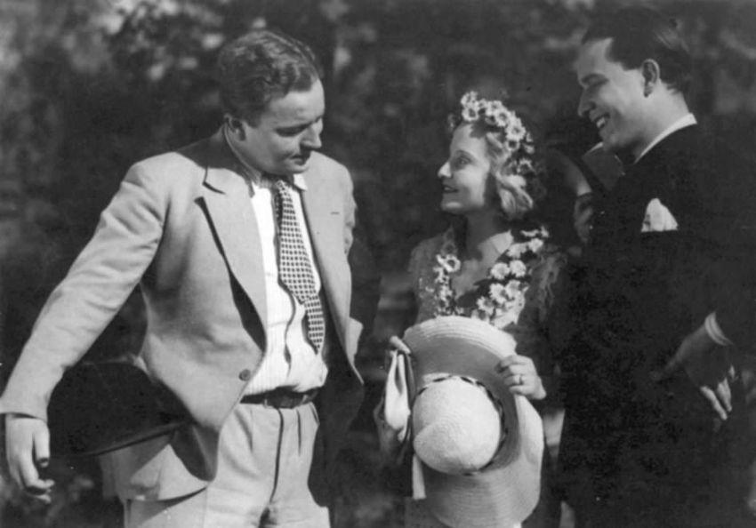 Jan Werich, Ella Šárková, Jiří Voskovec