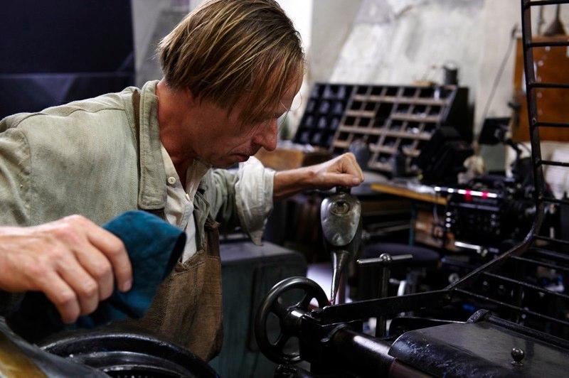 Karel Roden - práce v tiskárně