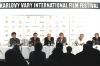 Tisková konference k filmu Whisky s vodkou: Christoph Müller, Sylvester Groth, Wolfgang Kohlhaase, Andreas Dresen, Henry Hübchen, Markus Hering (2009)