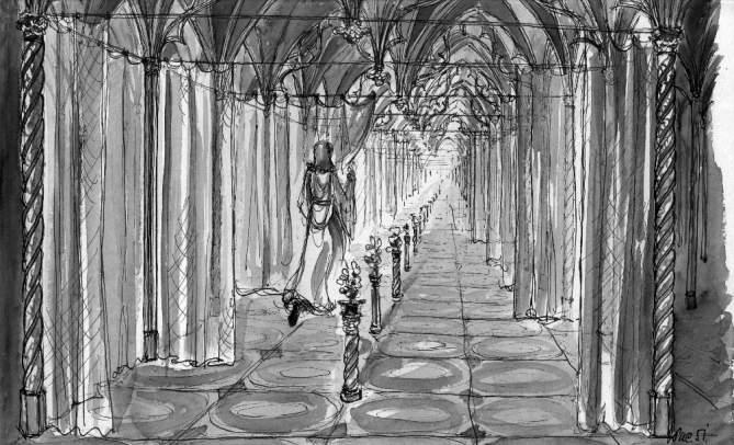 Výtvarný návrh dekorace filmu Pyšná princezna