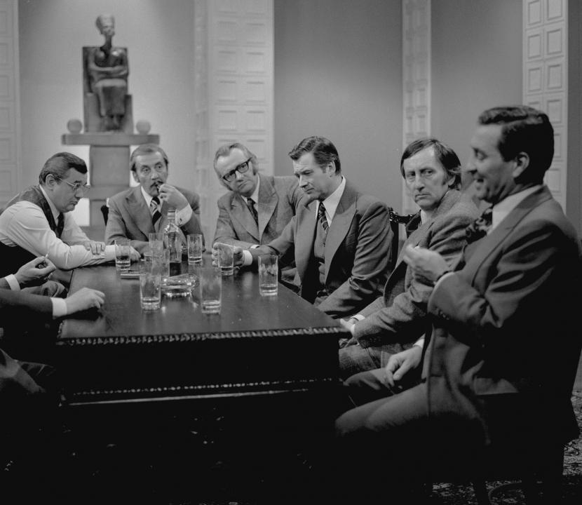 Josef Vinklář, Miloš Kopecký, Jiří Sovák, Bohumil Švarc, Lubomír Kostelka a Josef Větrovec
