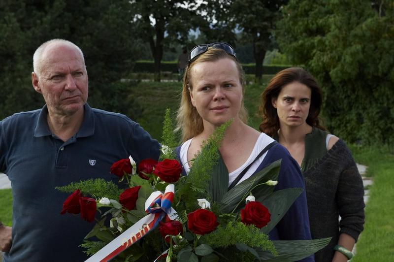 Natáčení v Terezíně -  Petr Nikolaev, Sabina Remundová, Zuzana Fialová