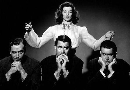 Cary Grant Katharine Hepburn James Stewart
