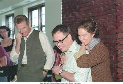 Liam Neeson , režisér Bill Condon a Laura Linney