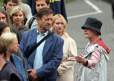 Jana Gospičová při natáčení filmu ROMing