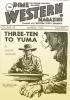 Obálka časopisu Dime Western Magazine (1953)podle skorostejnojmenné povídky byly natočeny  filmy 3:10 to Yuma