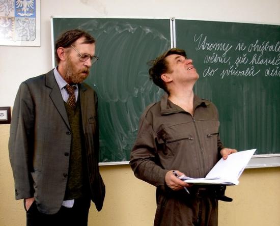 Jiří Schmitzer a režisér Tomáš Vorel