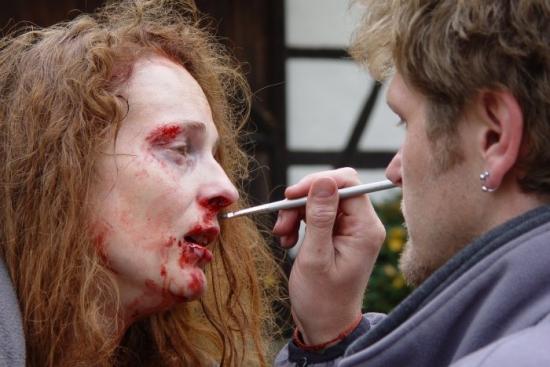 ukázka práce maskérů