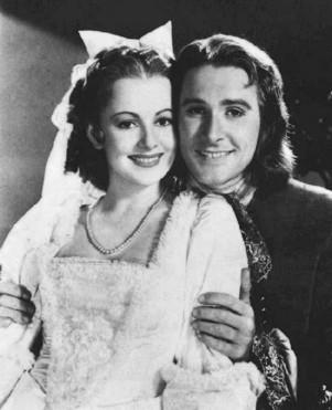 Errol Flynn  a Olivia de Havilland Olivia de Havilland Errol Flynn