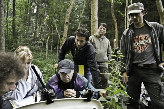 Milan Šteindler s kameramanem Tomášem Syslem a pomocným režisérem